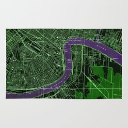 New Orleans Louisiana 1932 vintage old beautiful map Rug