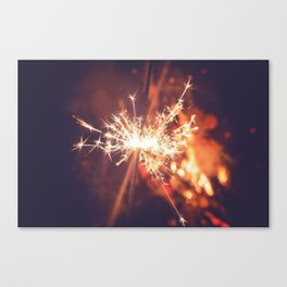 Sparkler Canvas Print