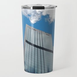 Blue Sky Reflections in a City Skyscraper by Sydney Harbour Travel Mug