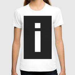 letter I (White & Black) T-shirt