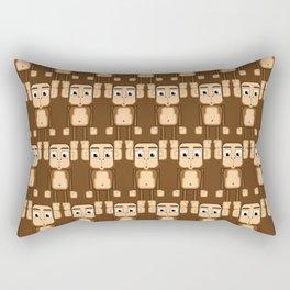 Super cute animals - Cheeky Brown Monkey Rectangular Pillow