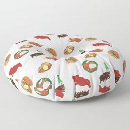 Balinese Food Pattern Floor Pillow