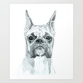 The Boxer Dog Miley Art Print