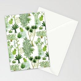 Green jungle pattern Stationery Cards