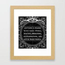 Necromancer line: Motivational  Framed Art Print