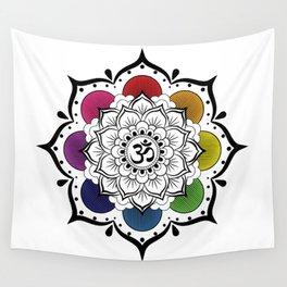 Om Mandala Wall Tapestry