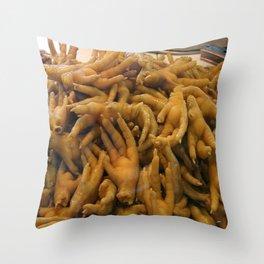 All you can Eat II - Market Shenzhen Throw Pillow