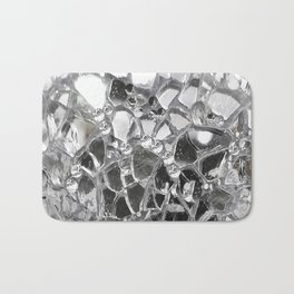 Silver Mirrored Mosaic Bath Mat