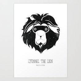 Lyonnel the Lion Art Print