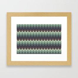 Moody Scallops Framed Art Print