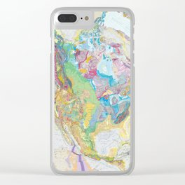 USGS Geological Map of North America Clear iPhone Case
