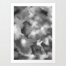 Black and white watercolor Art Print