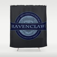 ravenclaw Shower Curtains featuring Ravenclaw by justgeorgia