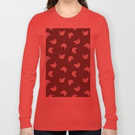 the happy french hen in lilac greige Long Sleeve T-shirt