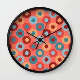 Cheerful Circle Pattern Wall Clock