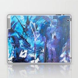 Figure in blue Laptop & iPad Skin