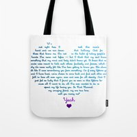 klaine Tote Bags featuring Klaine Proposal by Andria Ioannou