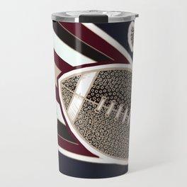 American football, gridiron ball Travel Mug