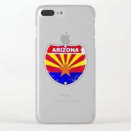 Arizona Interstate Sign Clear iPhone Case