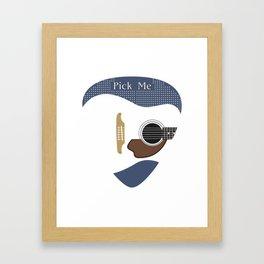 Pick Me (Guitar) Framed Art Print
