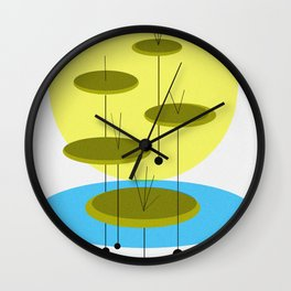 Eames' Mid Century Lily Pads Wall Clock