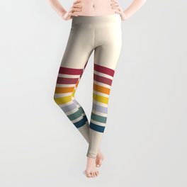 Enera - Classic 70s Vintage Style Retro Stripes Leggings