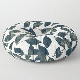 Abstract pink forest green mint leaves greenery Floor Pillow