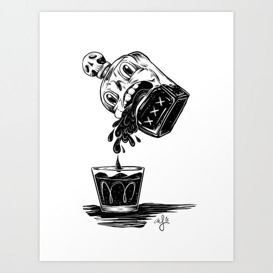 Pour Me Out Art Print