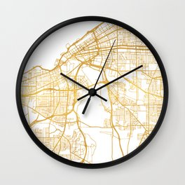 CLEVELAND OHIO CITY STREET MAP ART Wall Clock