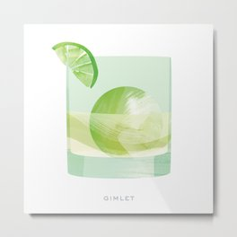 Cocktail Hour: Gimlet Metal Print