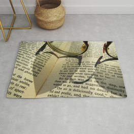 Love to read a book Rug