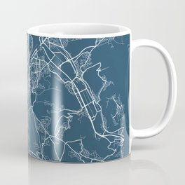 Stuttgart Blueprint Street Map, Stuttgart Colour Map Prints Coffee Mug