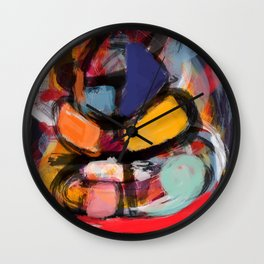Abstract art expressionist Wall Clock