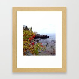 Rainy day color on the North Shore Framed Art Print