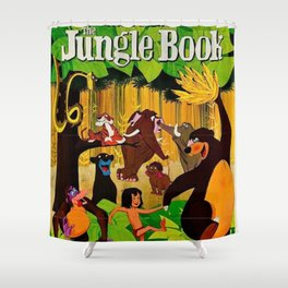 1961 Jungle Book Original US Film Movie Poster Shower Curtain