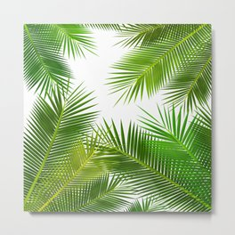 COCONUT Leafs pattern iPhone 4 4s 5 5c 6 7, pillow case, mugs and tshirt Metal Print