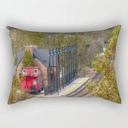 Train Station Rectangular Pillow