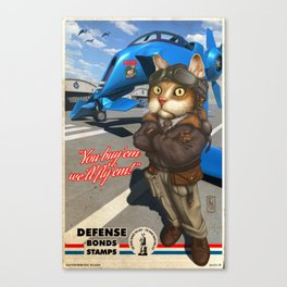 Supporting the Cat Army Canvas Print