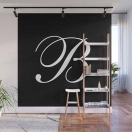 Elegant And Stylish Black And White Monogram B Wall Mural