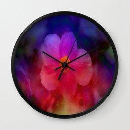 Rainbow Anemone Wall Clock