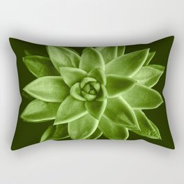 Greenery succulent Echeveria agavoides flower Rectangular Pillow