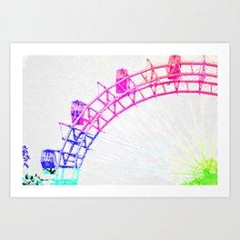 Colorful Riesenrad Art Print