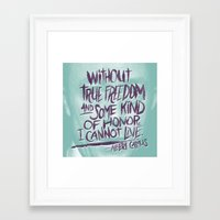 camus Framed Art Prints featuring OH NO CAMUS AGAIN by Josh LaFayette