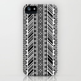 Black and White Adinkra Symbol African Print Pattern iPhone Case