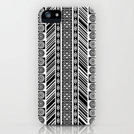 Black and White Adinkra Symbol African Print Pattern iPhone Case