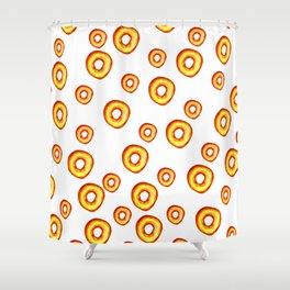 fried donuts Shower Curtain