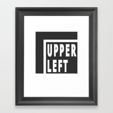 Upperleft Gray Framed Art Print