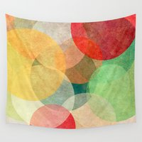 georgiana paraschiv Wall Tapestries featuring The Round Ones by Anai Greog