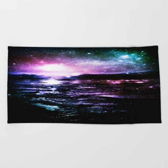Mystic Waters Cool Tone Ombre Beach Towel