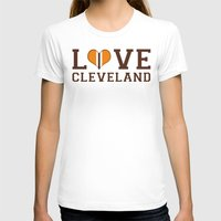 cleveland T-shirts featuring LUV Cleveland by C. Wie Design